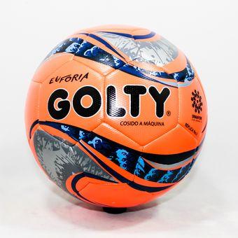 Compra Balon De Futbol  5 Golty Euforia Replica T654458 - Naranja ... 65ae3b3573a63