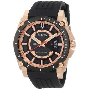 e7822a3a2a77 Compra Bulova Precisionist - Reloj Hombre 98B152 - Negro Y Dorado ...