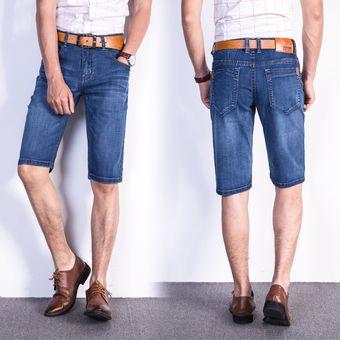 b690fa57394e Hombres Pantalones Vaqueros Cortos De Moda De Verano Para Hombres Mezclilla