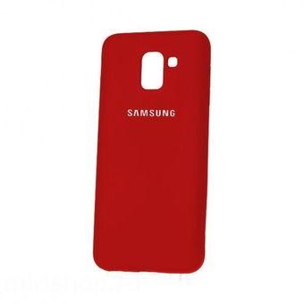 premium selection a7028 d0d99 Estuche Silicone Case Para Galaxy J6 Plus 2018-Rojo