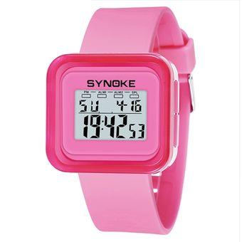 d46bd6bdff50 Reloj Deportivo Digital De Silicona LED Impermeable Para Niños-rosado
