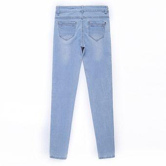 Jeans Ajustados De Mezclilla Elasticos De Tiro Medio Para Mujer Linio Peru Ge582fa1dn42dlpe