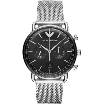 3e57ca3ed902 Agotado Reloj Emporio Armani Caballero aviator AR11104 - Plateado   Negro