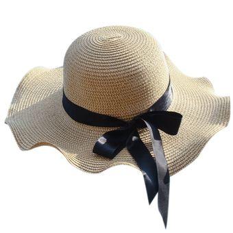 e87445ba2a2ce Mujeres Sombrero de copa Playa Sombrero de sol Gorra de visera de verano -  Tipo 3