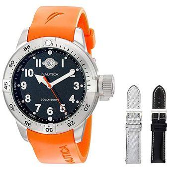 c9d829bc7d9b Agotado Reloj Análogo marca Nautica Modelo  N14508 color Naranja para  Caballero