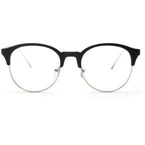 Agotado Redondo Los Anteojos Marcos ópticos Metal Gafas Hipster Miopía  -Negro + Plateado 8981ebfb4d26