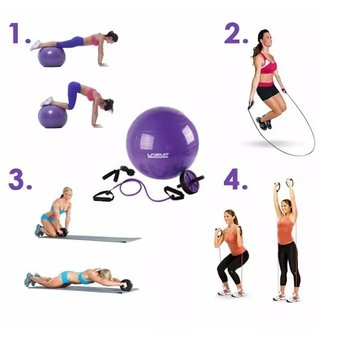 Set De Yoga Live Up - Pilates - Gym - Ejercicios - Pelota Ball - Rueda 60c5ad69e0e8