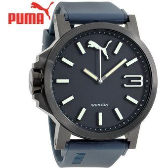 d61473edc Agotado Reloj Puma Ultrasize PU103461005 Acero Inoxidable Negro Correa De  Silicona Azul