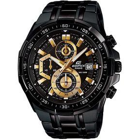 c3694d99382b Reloj Casio EFR-539BK-1AV Cronógrafo Analógico Para Hombres - Negro Y Dorado
