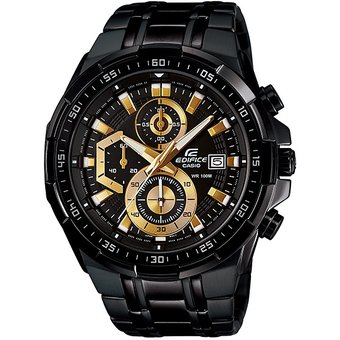 a96cb4437f45 Reloj Casio EFR-539BK-1AV Cronógrafo Analógico Para Hombres - Negro Y Dorado