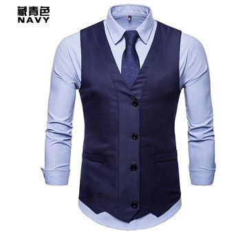 Compra Chaleco chaleco de moda para hombre - azul online  b7a5401ee05