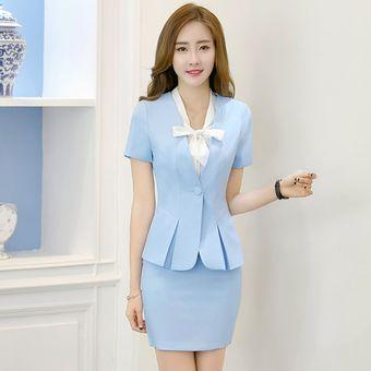 selección premium una gran variedad de modelos comprar Trajes Para Mujer Faldas Y Sacos Formales De Oficina Y Negocio - Azul