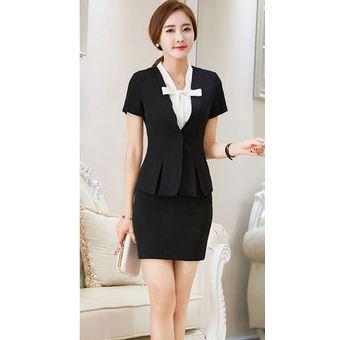 769ef78fc Trajes Para Mujer Faldas Y Sacos Formales De Oficina Y Negocio - Negro