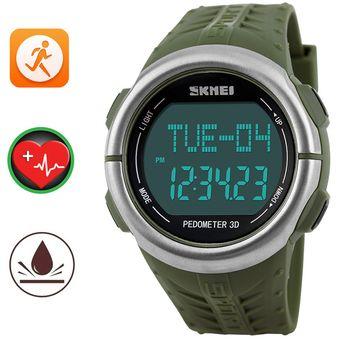 b490f13ae8a9 Compra Podómetro Impermeable Reloj Skmei Deportivo Ritmo Cardiaco ...