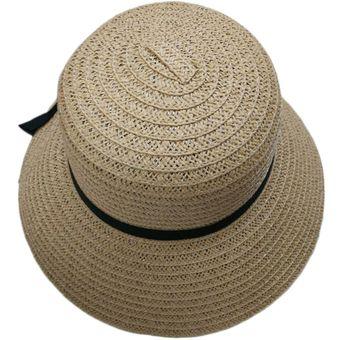 ce9267240d5cb Moda Mujer Elegante Niñas Outdoor Gorras Sombreros De Sol De Verano En Las  Playas De Paja