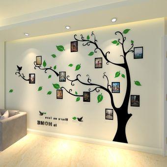 árbol 3d Cristal Acrílico Pegatinas De Pared Sala Comedor Decoración De La Pared