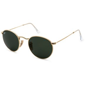 d92984be95 Gafas De Sol Ray Ban 3447 001 ROUND Dorado / Verde Talle M