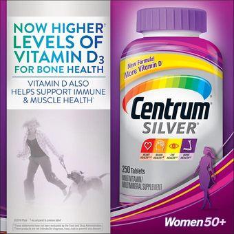 92680b47ec929c Centrum Silver Women 50+ Multivitamin Multimineral Complete 250 Tablets