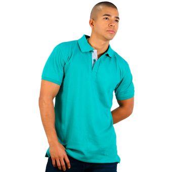 Compra Camiseta Tipo Polo Hamer Color Verde Jade online  6bc08ecd97343