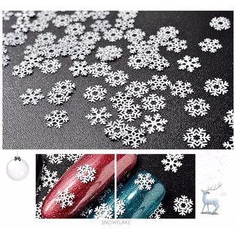 Navidad Decoracion La Nieve Para El Arte De Uñas Lentejuelas Blanco
