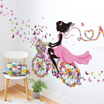 Compra vinilo decorativo para pared multicolor online for Stickers decorativos de pared