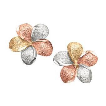 c6e75c5a8de3 Compra Aretes Flor Cristal Joyas Oro Florentino 14 K online