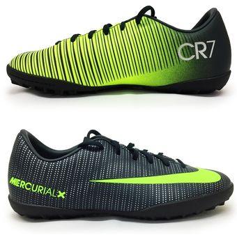 Agotado Zapatos Fútbol Niño Nike Jr Mercurial Vapor XI CR7 TF -Negro Y  Amarillo 9f0bde9217ca0