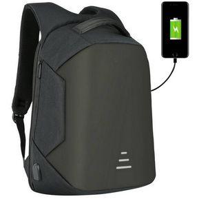 bc302d333 Mochila Antirrobo USB Impermeable Laptop Notebook Usb Mac Negro