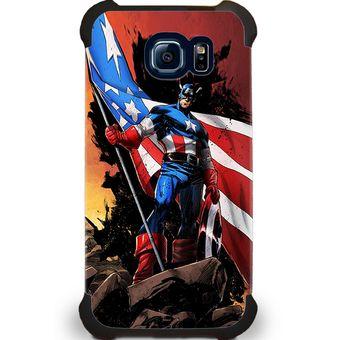 b796d8e2be9 Agotado Kustomit - Carcasa Galaxy S6 - Marvel - Capitán América - Conquer -  Case Funda Protector