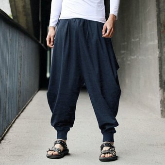 Pantalones Harem De Lino Y Algodon A La Moda Para Hombres 2020 Japoneses Nuevos Pantalones Sueltos Para Correr Pantalones De Entrepierna Para Hombres Pantalones Anchos De Pierna Ancha As Picture Linio Peru