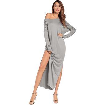 e34a237aa20 Generic Casual Vestido Compra Mujer Gris Online Vestidos 345RjLA