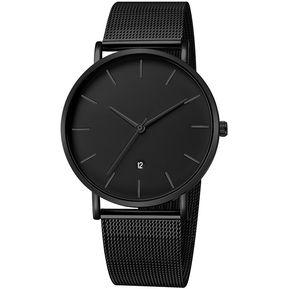 c15daa64d63e Geneva 658 Reloj de cuero moda de casual para hombre negro