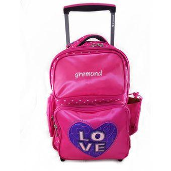 82e40728ede54 Compra Mochila Gremond Con Carro 26 Litros Love-Rosa online