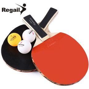 92c35db0f6 Raqueta De Tenis De Mesa Mango Largo Dos Manos Con 3 Bolas
