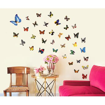 Compra 12 unidades / lote mariposas pegatinas de pared decoracion de ...