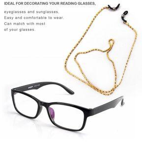 4ddc46876a Metal Cuerda Correa Para El Cuello Gafas De Lectura Gafas Cable Soporte  Antideslizante