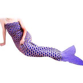 Encantadora Forma Sirena Diseño Geométrico Pequeña Manta De Patrón De  Bolsillo 43df8c5dd1d