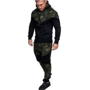 c00ae2d26 Camuflaje Hoodies + Pants Set Moda Chándal Para Hombre