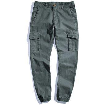 Pantalones Slim Fit Para Hombre Multi Pocket Pantalones Para Hombre Solidos Nuevos Joggers De Algodon De Alta Calidad Pantalones Largos Tamano 28 38 G3552 Wan Army Green Linio Peru Ge582sp1jardvlpe