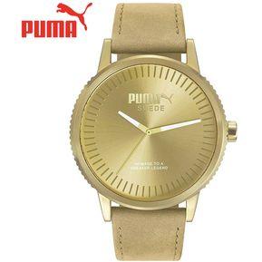 719d7a234aea Reloj Puma Suede PU104101009 Acero Inox. Correa De Gamuza y Cuero - Beige  Dorado