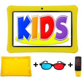 e94ab4f6a8 Agotado Tablet + Reloj + Cubierta Silicona + Gafas 7 Pulgadas Android  Amarillo