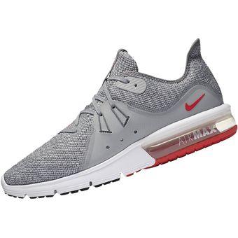 hot sale online 78d16 bc176 Zapatillas Nike Air Max Sequent 3 Para Hombre - Plomo