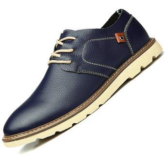 fb555d54 Compra Zapatos De Ecocuero De Ocio Colegio Viento Para Hombre - Azul ...