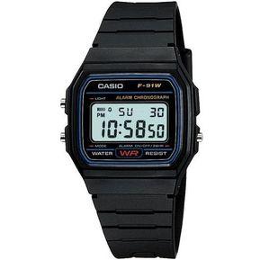 36cb2cb12 Reloj Casio Vintage F91 Para Caballero- Negro