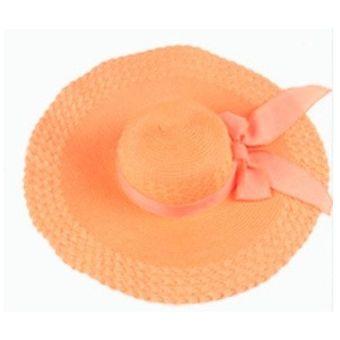 Sombrero De Playa Para Mujer Palmera s Bay Protección Solar Moda Dama Gorra- Naranja e185de926f4