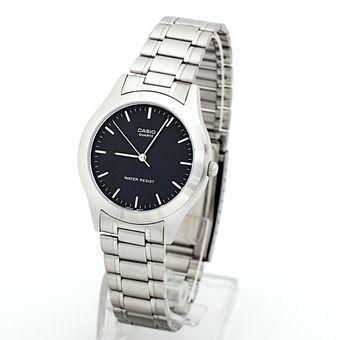 Reloj Casio Para Hombre MTP-1128A 1A Análogo Dial Negro De Acero Inoxidable 74f3904b2b4e