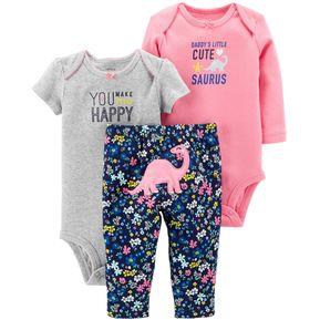 7fe8f8ab7 Set/Conjunto Carter's dinosaurio Bebé Niña - Rosa y Azul