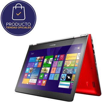 "Portatil Lenovo  Yoga 500-14IBD Intel Core I5-5200U RAM 4GB  DD 1TB Windows10 14""-Rojo"
