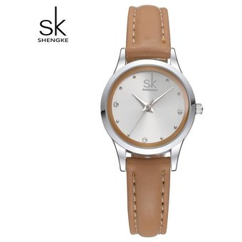 587e5458cf3b Compra Relojes Cuero Moda Mujer Pequeños Dial Redondo Cuarzo-marrón ...