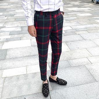 Pantalones De Boda Pantalones Rojos De Oficina Para Hombre Pantalones De Negocios Pantalones Clasicos Para Hombre Trajes A Cuadros Pantalones Para Hombre Ajustados Xyx Red Linio Peru Ge582fa0qz7rblpe